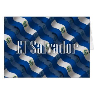 El Salvador wellenartig bewegende Flagge Karte