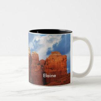 Elaine auf Kaffee-Topf-Felsen-Tasse