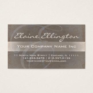 Elaine elegantes e-Schimmer-Monogramm Visitenkarten