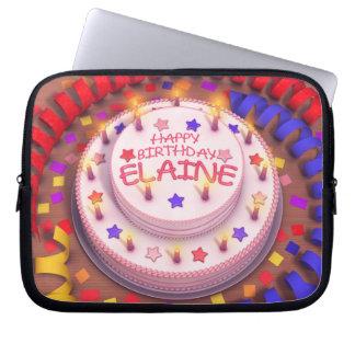 Elaine Geburtstags-Kuchen Computer Sleeve Schutzhülle