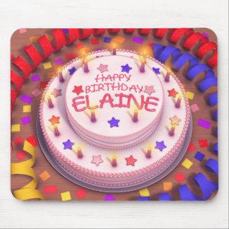 Elaine Geburtstags-Kuchen Mauspad