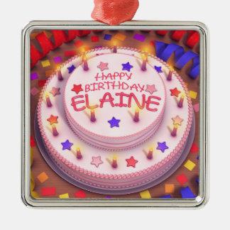 Elaine Geburtstags-Kuchen Ornamente