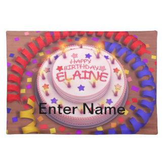 Elaine Geburtstags-Kuchen Tisch Sets