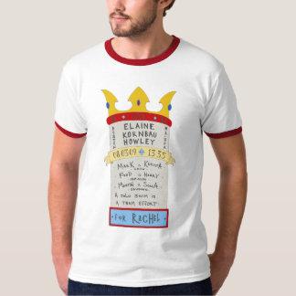 Elaine gegen. Die englischer Kanal-Farbe T-Shirt