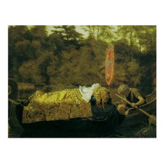 Elaine oder das Lilien-Mädchen von Astolat, 1870 Postkarten