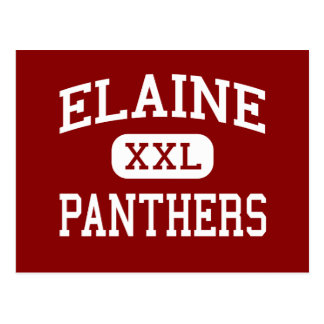 Elaine - Panther - Highschool - Elaine Arkansas Postkarte