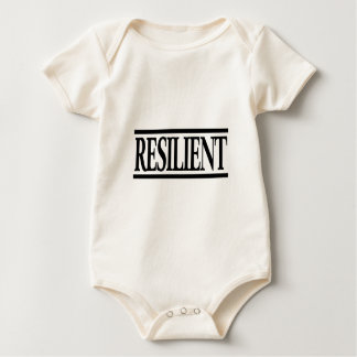 Elastische positive Gedankenaussage Baby Strampler