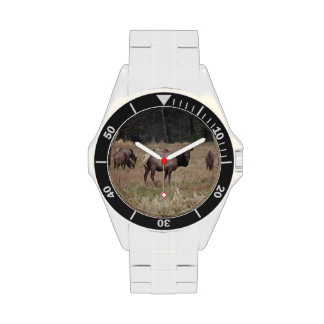 Elch-Armbanduhr