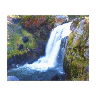 Elch-Fluss-Fälle Leinwanddruck