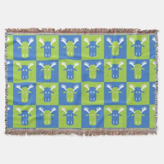 Elch-HauptPop-Kunst Throwdecke Decke