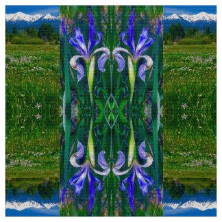 Elch-Horn-Frühlings-Iris-Gewebe Stoff