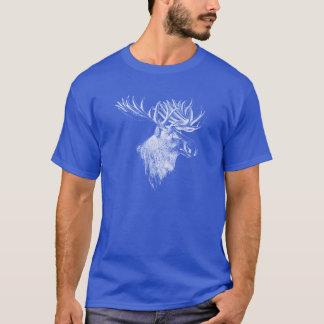 Elch-Kopf-Zeichnen T-Shirt
