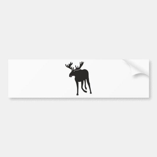 Elch moose elk deer antler sweden autoaufkleber