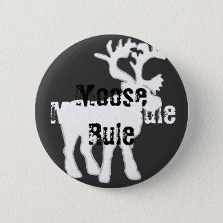 Elch-Regel-Knopf Runder Button 5,7 Cm