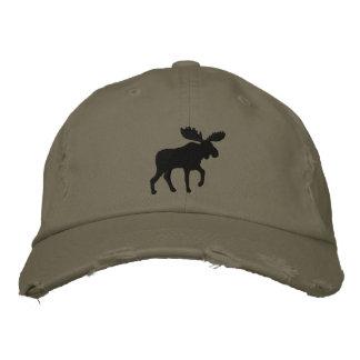 Elch-Silhouette (Farbe kundengerecht) Bestickte Kappe