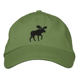 Elch-Silhouette (Farbe kundengerecht) Bestickte Kappen