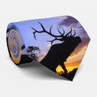 Elch-Silhouette Krawatte
