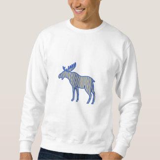 Elch-Silhouette-Zeichnen Sweatshirt