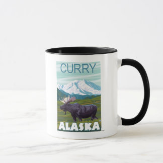 Elch-Szene - Curry, Alaska Tasse