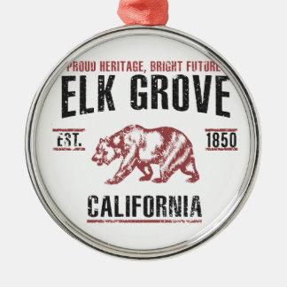 Elch-Waldung Silbernes Ornament