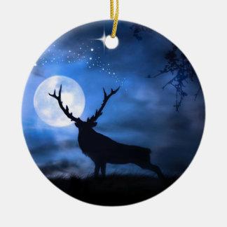 Elch-Weihnachtsverzierung Keramik Ornament