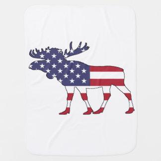"""Elche """"amerikanische Flagge """" Babydecke"""