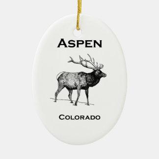 Elche Aspen Colorado Keramik Ornament