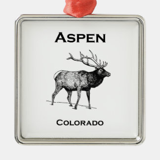 Elche Aspen Colorado Silbernes Ornament