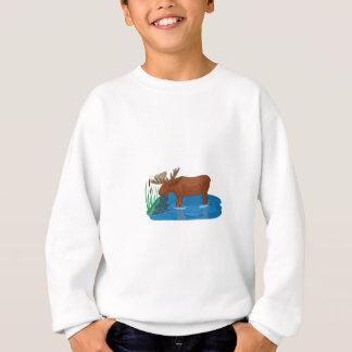 Elche auf dem losen sweatshirt