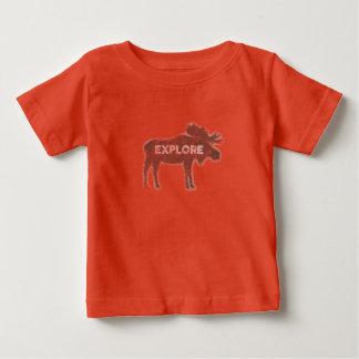 Elche erforschen Vintages (v1) Baby T-shirt