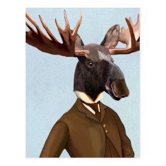 Elche im Anzugs-Porträt Postkarte