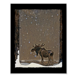 Elche im Schnee Poster