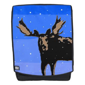 Elche im Winter - ursprüngliche Tier-Kunst Rucksack