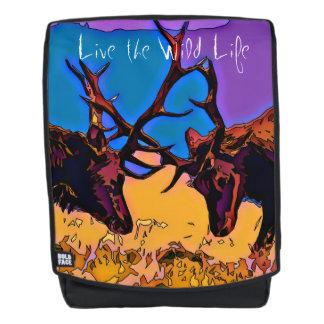 Elche - leben das wilde Leben/der Rucksack