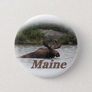 Elche Maines Stier Runder Button 5,1 Cm