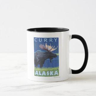 Elche nachts - Curry, Alaska Tasse