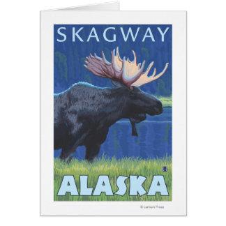 Elche nachts - Skagway, Alaska Karte