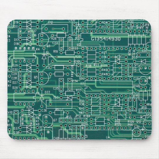 Electric circuit layout mousepad