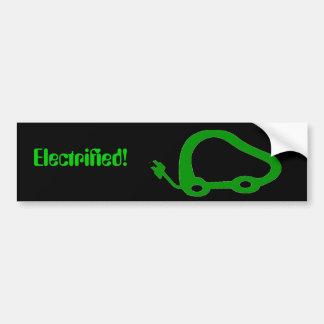 ElectricVehicleFriendly, elektrifiziert! Autoaufkleber