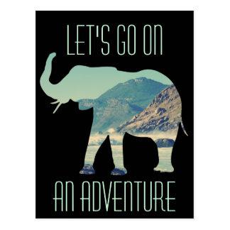 Elefant-Abenteuer Postkarte