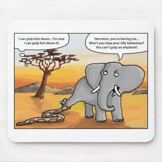Elefant and snake.png mauspads