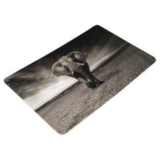 Elefant auf dem Lauf Bodenmatte