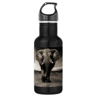 Elefant auf dem Lauf Edelstahlflasche