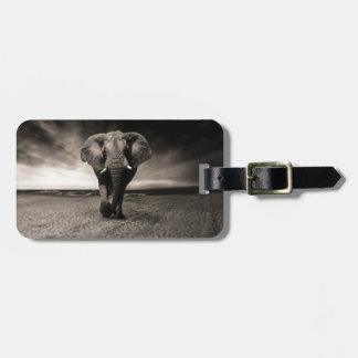 Elefant auf dem Lauf Kofferanhänger