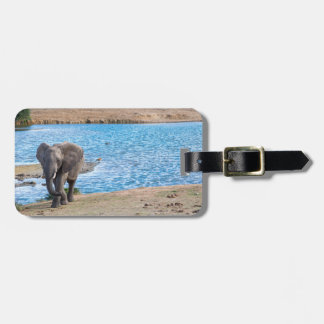 Elefant auf dem See Kofferanhänger