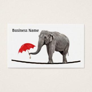 Elefant auf einem Drahtseil Visitenkarte