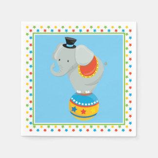 Elefant auf Zirkus-Thema des Ball-| Papierserviette