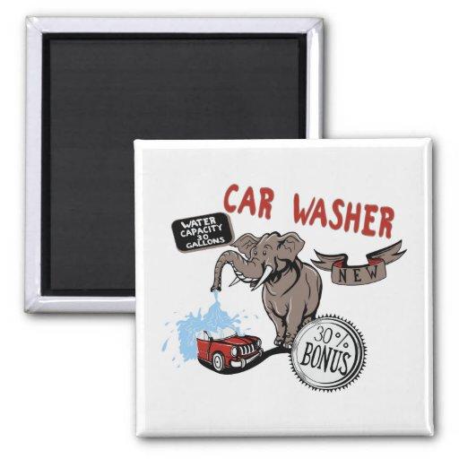 Elefant-Auto-Waschmaschine - lustige neue Erfindun Magnete