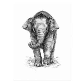 Elefant Baby Design by Schukina G046 Postkarte