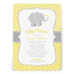 Elefant-Babyparty-Einladungen | gelb und Grau